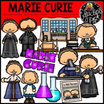 Marie curie clipart vector Marie Curie Clip Art Bundle {Educlips Clipart} vector