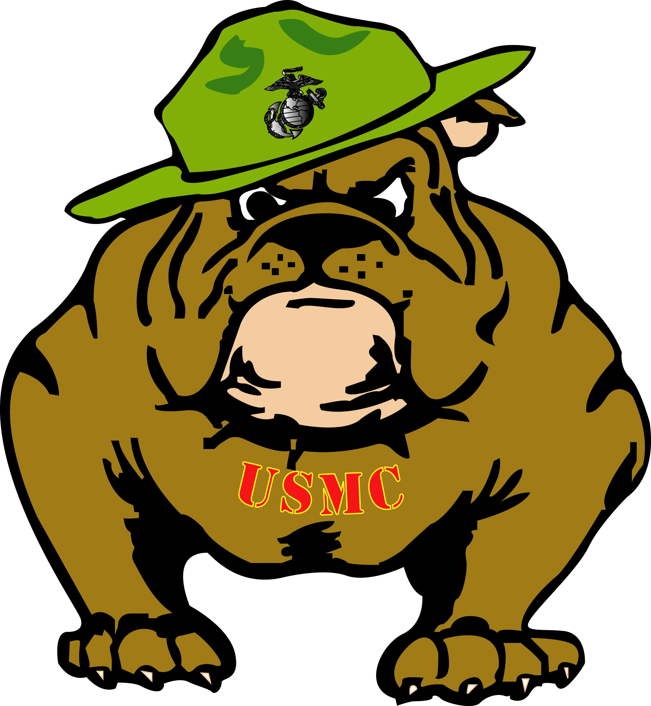 Marine hat clipart png library library Army and Navy Bulldogs | Marine | Bulldog clipart, Usmc ... png library library