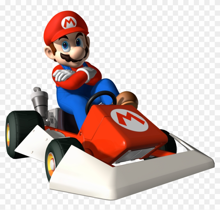 Mario cart clipart svg transparent download Mario Clipart Go Kart - Mario Kart Ds Mario Png, Transparent ... svg transparent download