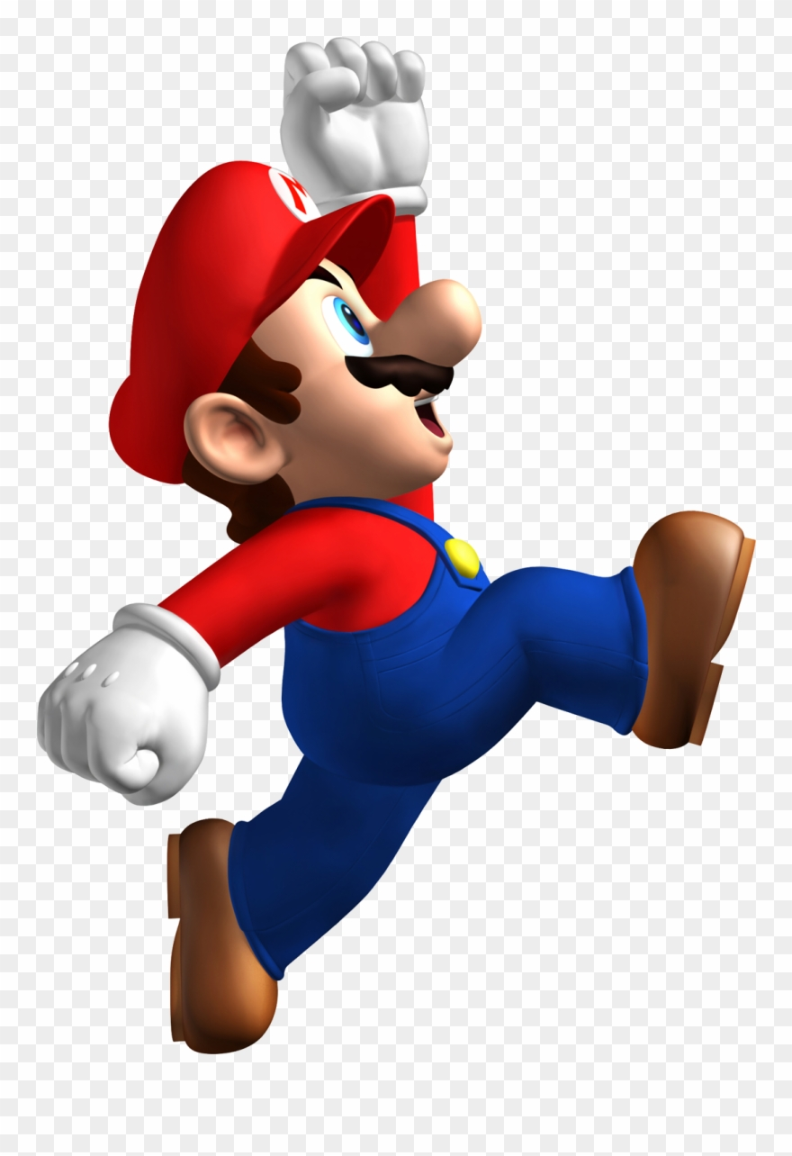 Mario jumping clipart freeuse library New Super Mario Bros - New Super Mario Bros. Wall Stickers ... freeuse library