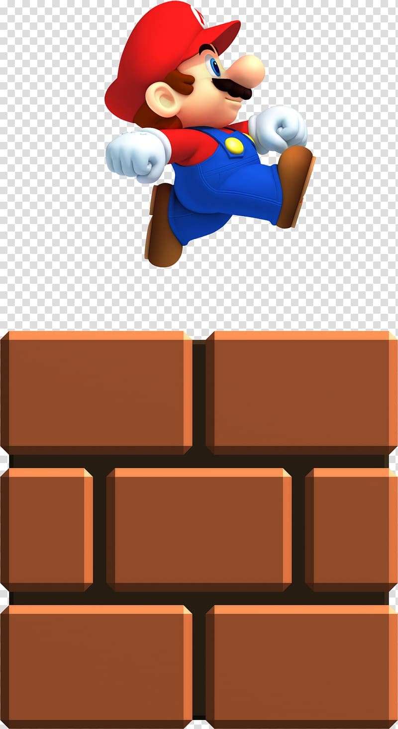 Mario jumping clipart banner freeuse stock Super Mario jumping on brown block, New Super Mario Bros. 2 ... banner freeuse stock