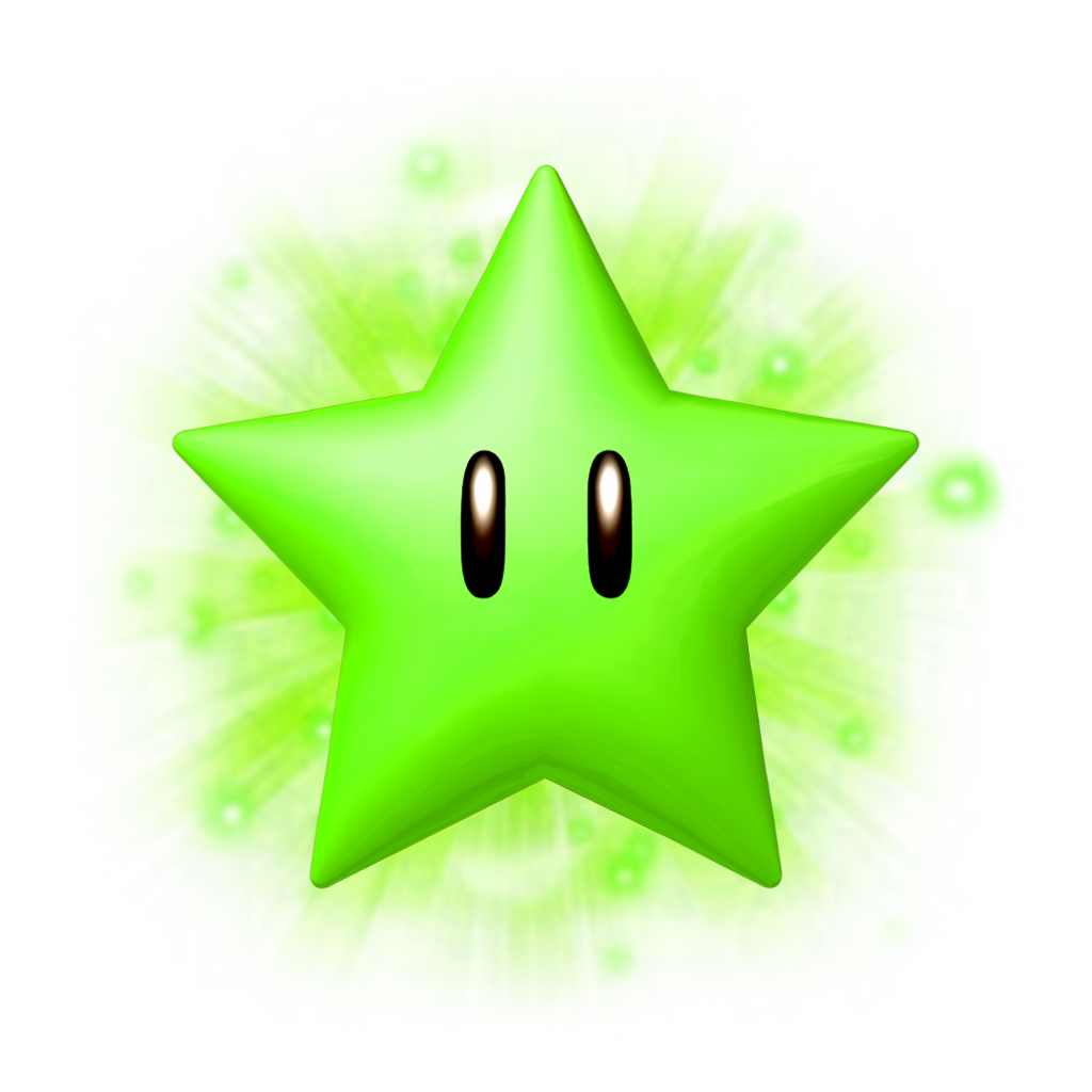 Super Mario 3D World Green star Clip art - Green Star Images 1024 ... picture