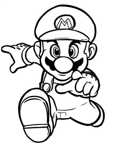 Mario super bros clipart easy in color clip art library download Super Mario Bros Coloring Pages.. 39 pictures to print and ... clip art library download
