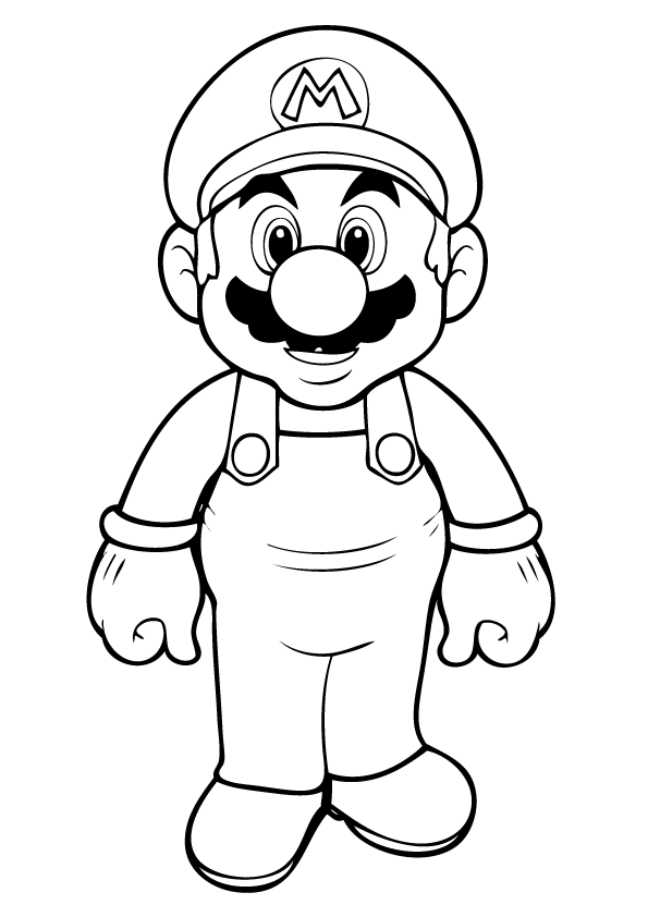 Mario super bros clipart easy in color png transparent download Free Printable Mario Coloring Pages For Kids | Deep thought ... png transparent download