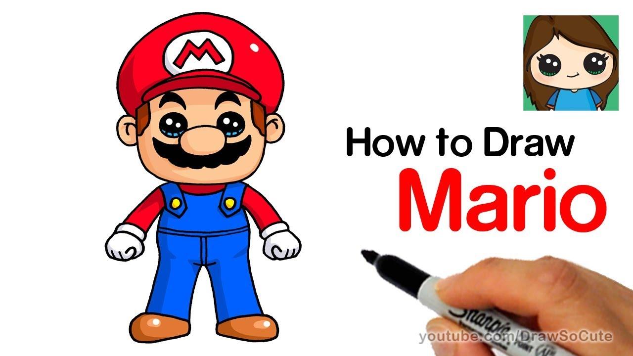 Mario super bros clipart easy in color clipart stock How to Draw Super Mario Easy clipart stock