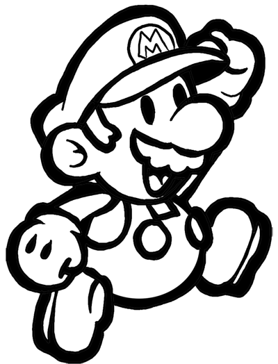 Mario super bros clipart easy in color picture black and white library How to Draw Classic Mario Bros or Paper Mario with Easy Step ... picture black and white library