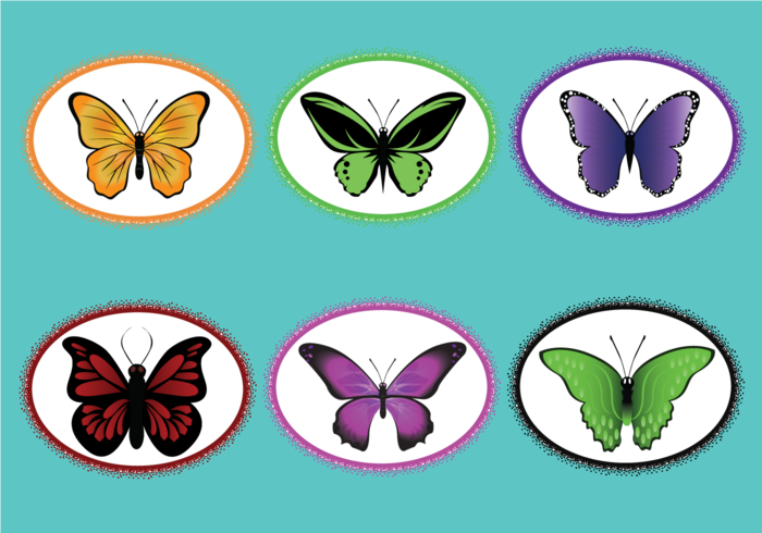 Mariposa vector clipart svg black and white download Mariposa Vector Pack - Download Free Vectors, Clipart ... svg black and white download