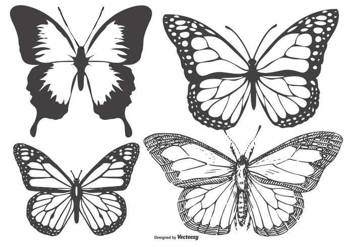 Mariposa vector clipart picture black and white Vintage Butterfly/Mariposa Collection - Download Free ... picture black and white