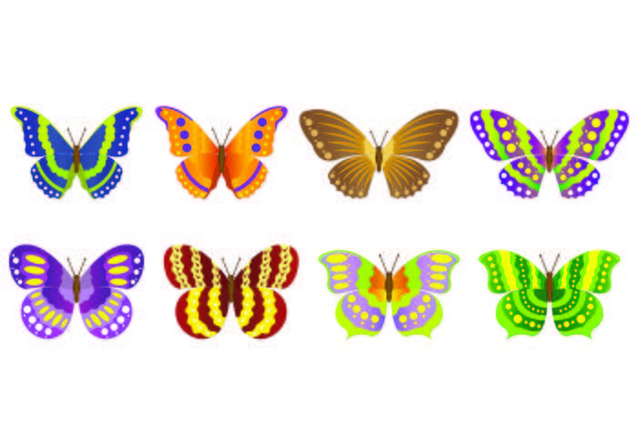 Mariposa vector clipart image freeuse library Set Of Mariposa Vectors - Download Free Vectors, Clipart ... image freeuse library