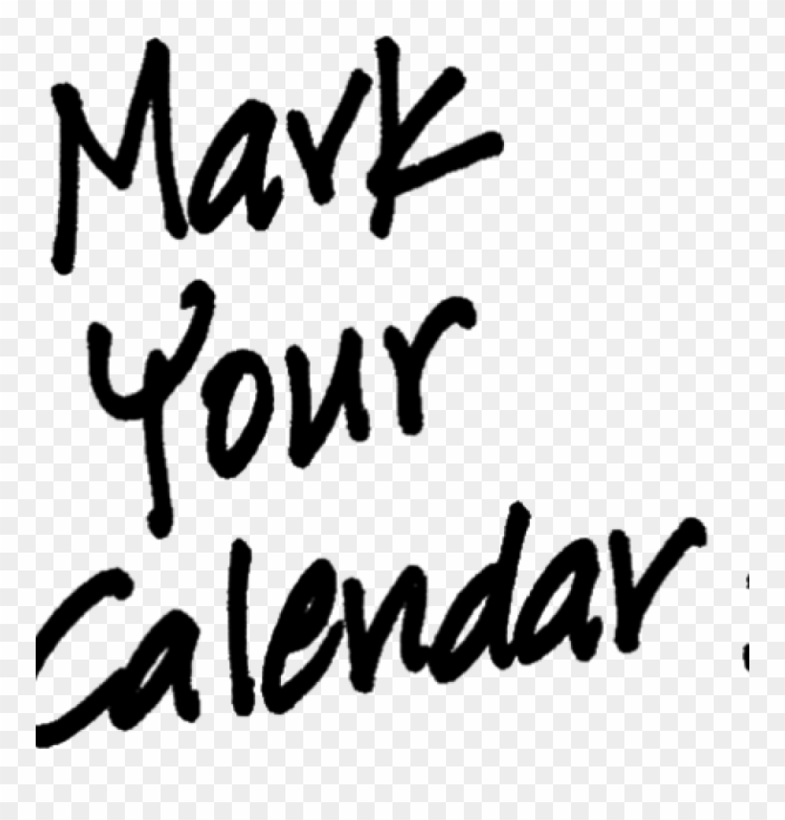 Mark your calendars clipart black and white picture transparent library Mark Your Calendar Images Black Space Clipart - Mark Your ... picture transparent library