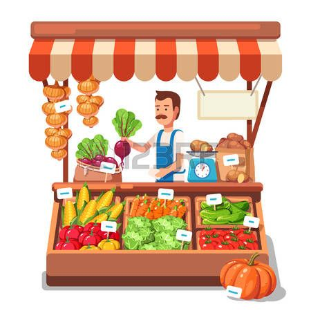 Market clipart free vector library download Vegetable Market Clipart | Great free clipart, silhouette ... vector library download