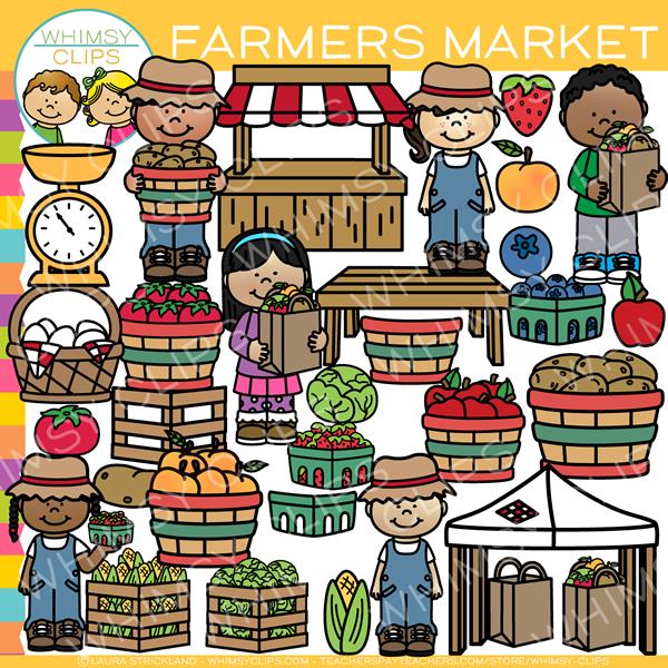 Market clipart free banner download Kids Farmer Market Clip Art banner download