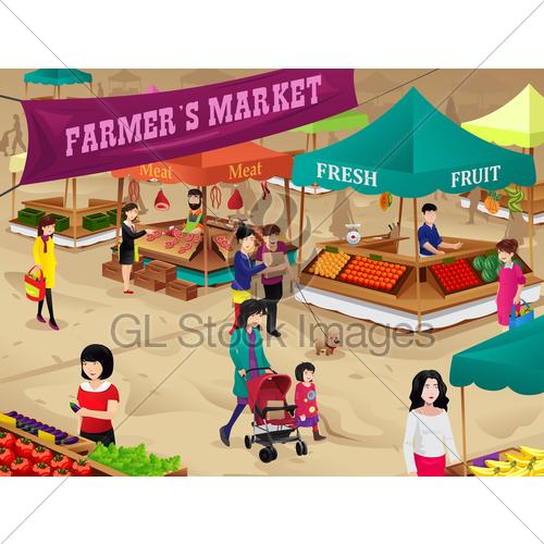 Market scene clipart clip art library stock Farmers Market Scene · GL Stock Images clip art library stock