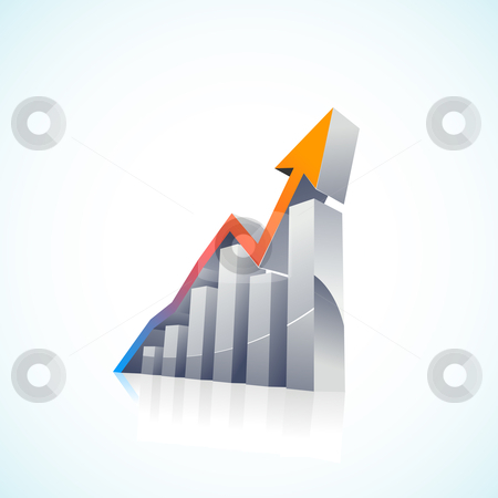 Market size clipart jpg free stock Vector 3d Stock Market Bar Graph stock vector jpg free stock