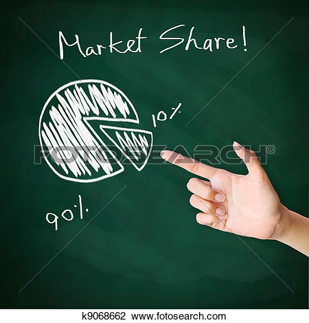 Market size clipart svg library stock Clip Art of Market Share k9068662 - Search Clipart, Illustration ... svg library stock