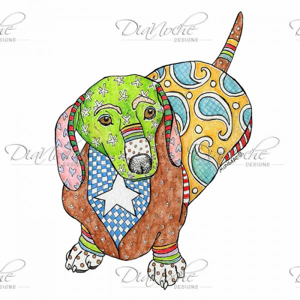 Marley the dog clipart clipart library library Unique City Chic Leggings | Marley Ungaro - Dachshund Dog White ... clipart library library