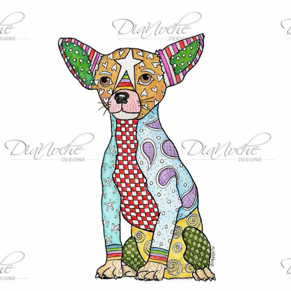 Marley the dog clipart jpg royalty free Unique Window Curtains | Marley Ungaro - Chihuahua Dog White ... jpg royalty free