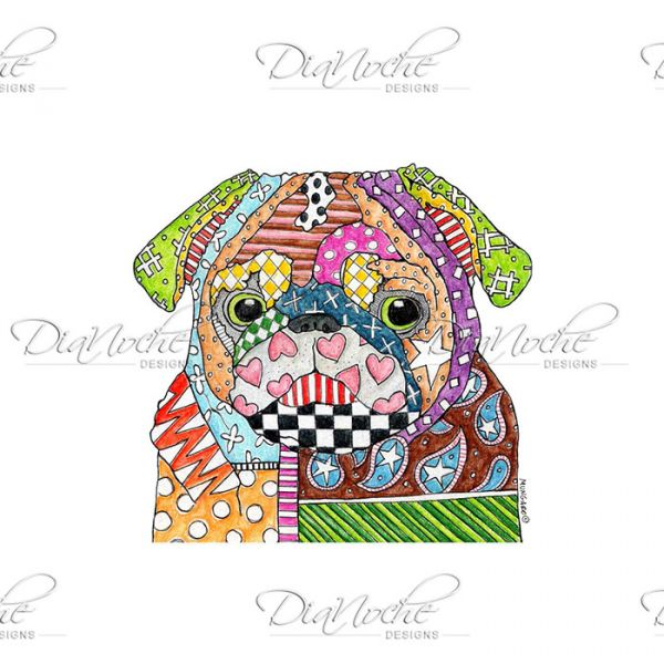 Marley the dog clipart clip transparent library Unique Throw Blankets | Marley Ungaro Pug Dog - DiaNoche Designs clip transparent library