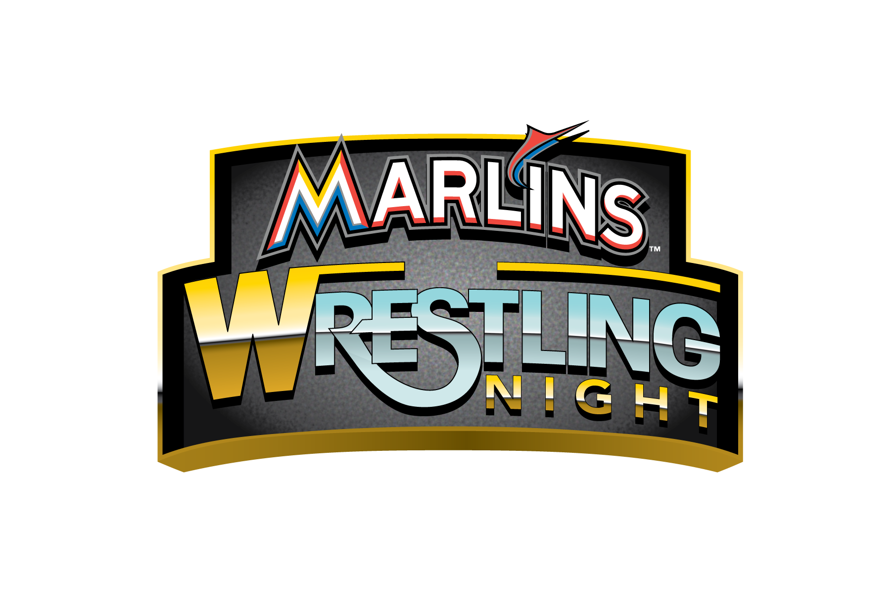 Marlins baseball clipart banner transparent library Miami Marlins Host Wrestling Night with Mick Foley and Kevin Nash ... banner transparent library