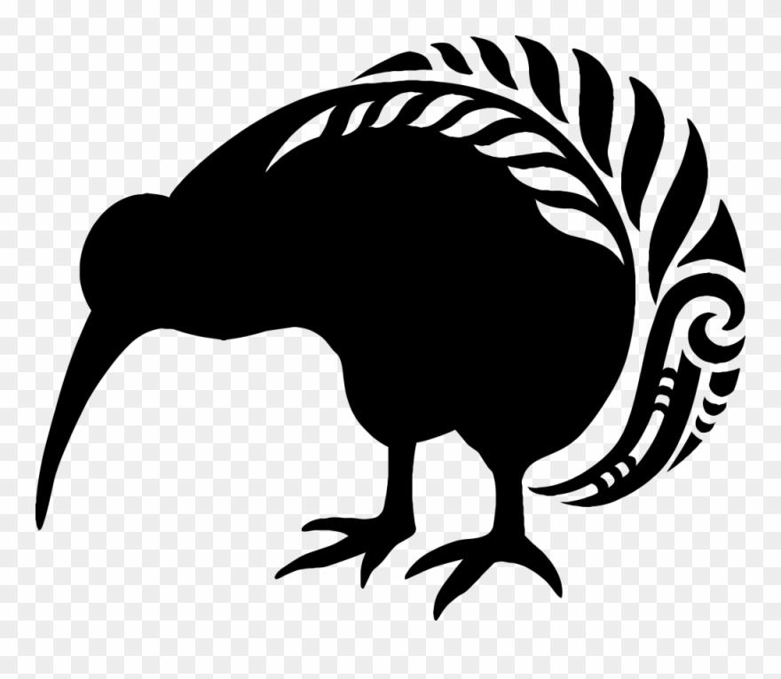 Maroi clipart vector royalty free Kiwi Bird Clipart Maori Pattern - New Zealand Kiwi Fern ... vector royalty free