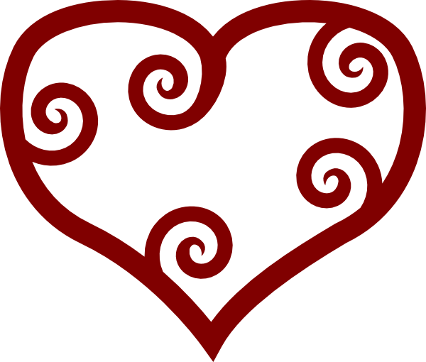 Maroi clipart clip royalty free stock Red Maori Heart clip art | Clipart Panda - Free Clipart Images clip royalty free stock