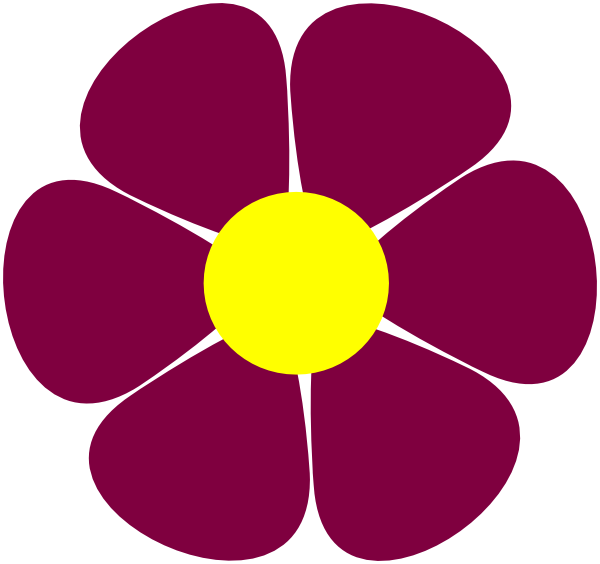 Maroon flower clipart clip black and white stock Maroon Flower Clip Art at Clker.com - vector clip art online ... clip black and white stock