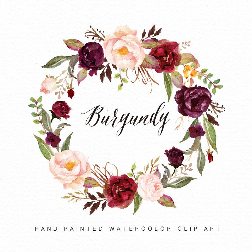 Maroon flower clipart picture transparent stock Image result for water color flowers maroon | graphics/fonts ... picture transparent stock