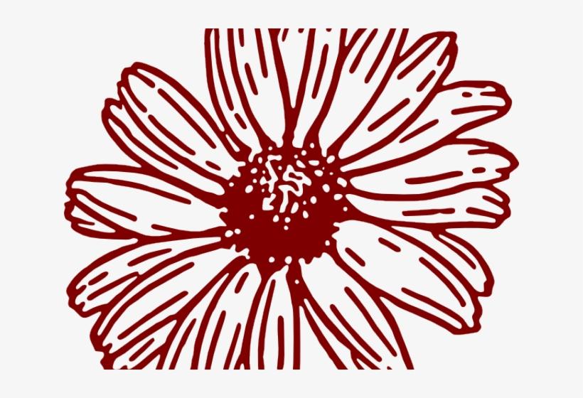 Maroon flower clipart jpg black and white stock Maroon Flower Cliparts - Gerbera Daisy Gerber Daisy Clipart ... jpg black and white stock