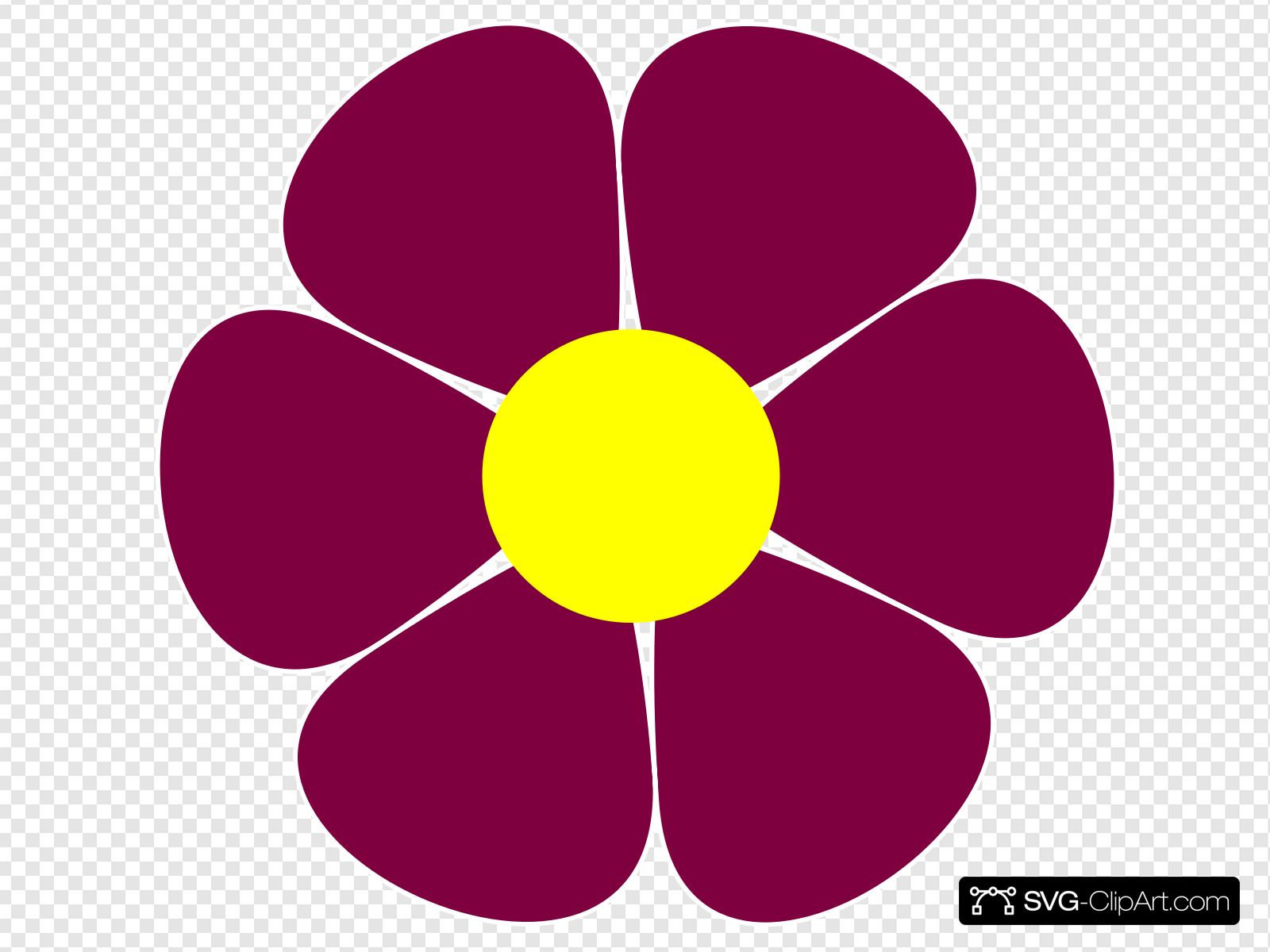 Maroon flower clipart graphic transparent stock Maroon Flower Clip art, Icon and SVG - SVG Clipart graphic transparent stock