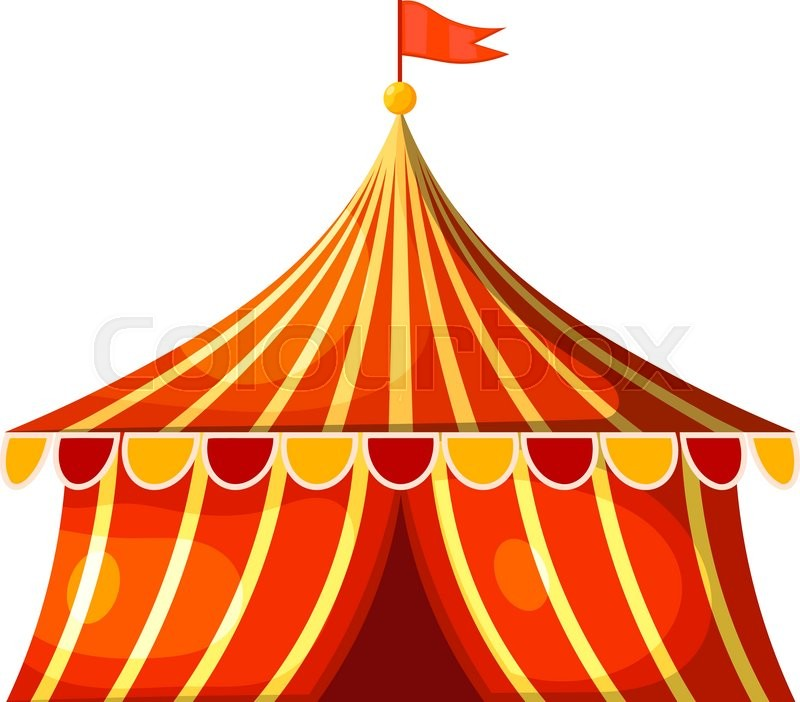 Marquee tent clipart transparent Cartoon circus marquee tent. Vector ...   Stock vector ... transparent