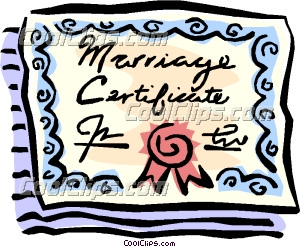 Marriage license clipart graphic stock Marriage certificate | Clipart Panda - Free Clipart Images graphic stock