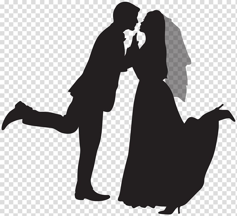 Marriage png clipart hispanic male white female png royalty free download Wedding invitation Marriage , Silhouette Wedding Couple ... png royalty free download
