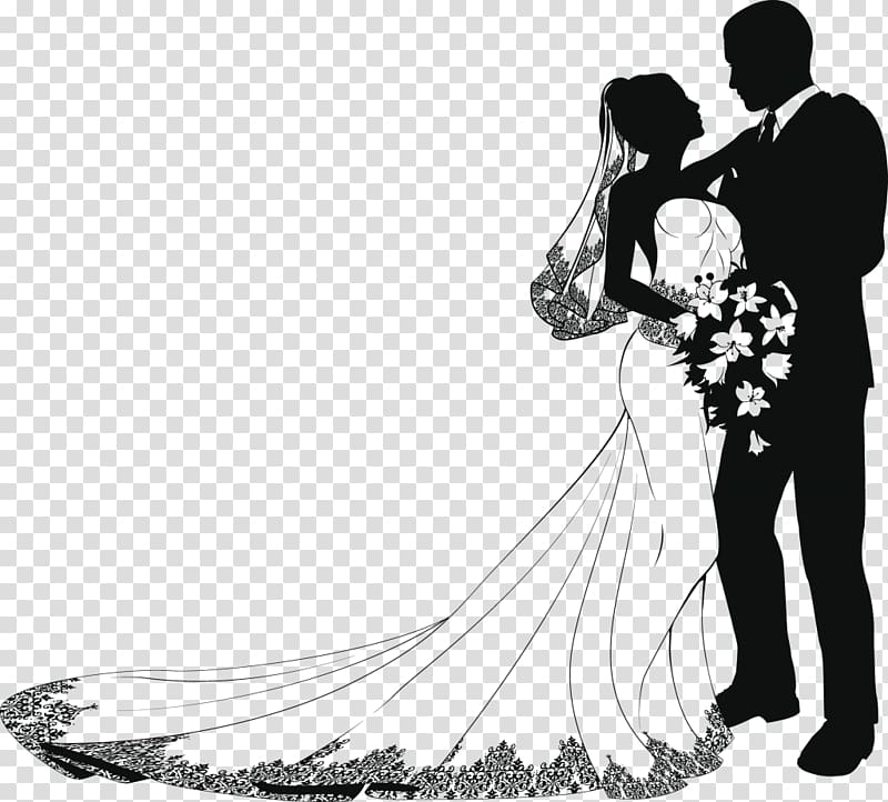 Marriage png clipart hispanic male white female clip art black and white download Bride and groom illustration, Wedding invitation Marriage ... clip art black and white download
