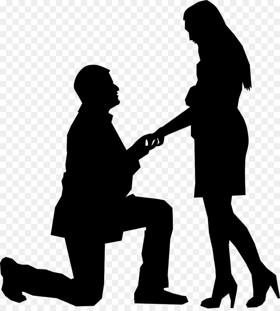 Marriage proposal pictures clipart svg transparent Black Line Background clipart - Silhouette, Marriage, Black ... svg transparent