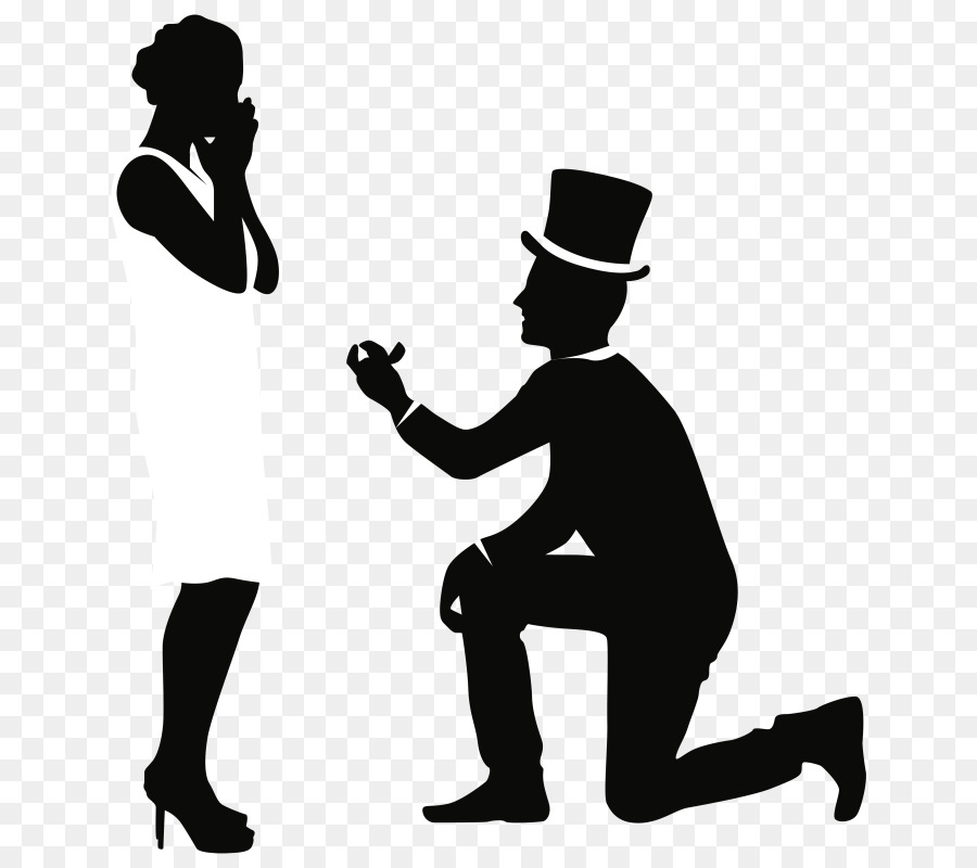 Marriage proposal pictures clipart clipart library download Love Black And White png download - 720*800 - Free ... clipart library download