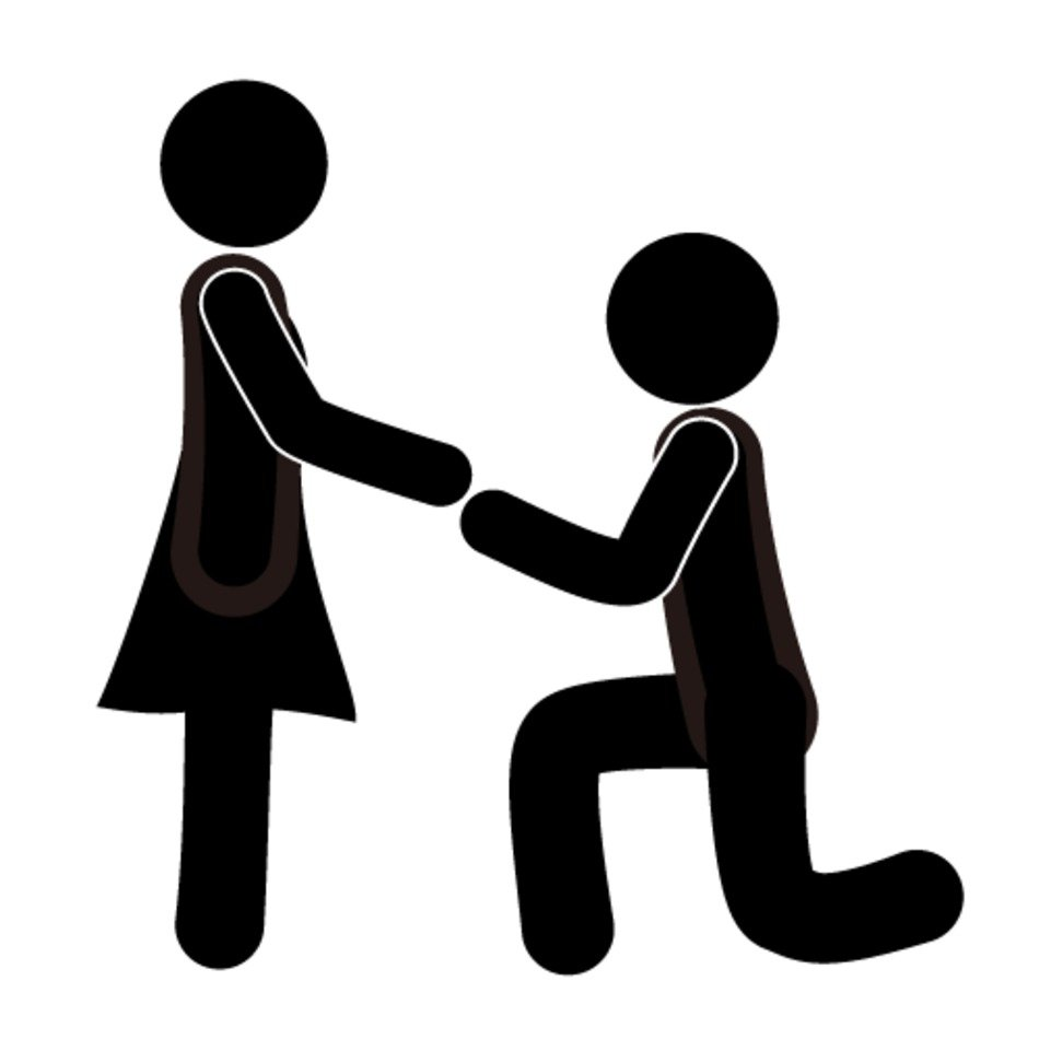 Marriage proposal clipart
