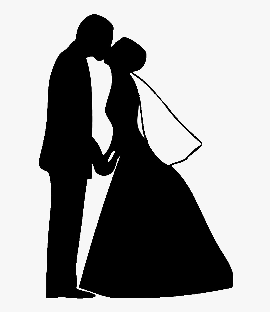Married couple clipart svg svg freeuse library Wedding Couple Silhouette Png Svg Black And White Download ... svg freeuse library