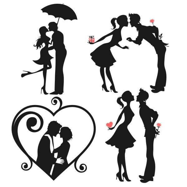 Married couple clipart svg image royalty free library Love Couple Svg Cuttable Designs | Love | Couple silhouette ... image royalty free library