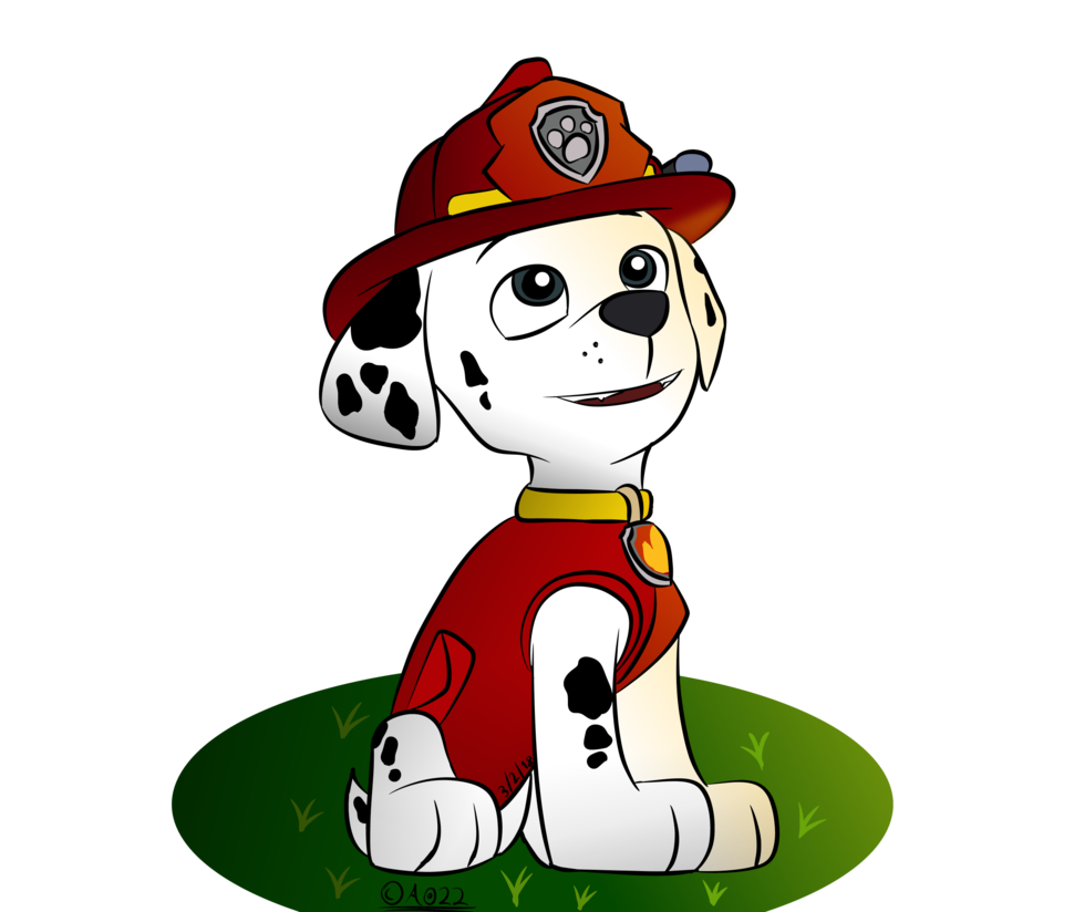 Paw patrol marshall clipart png transparent Paw Patrol: Marshall by AO-2-NICK on DeviantArt png transparent