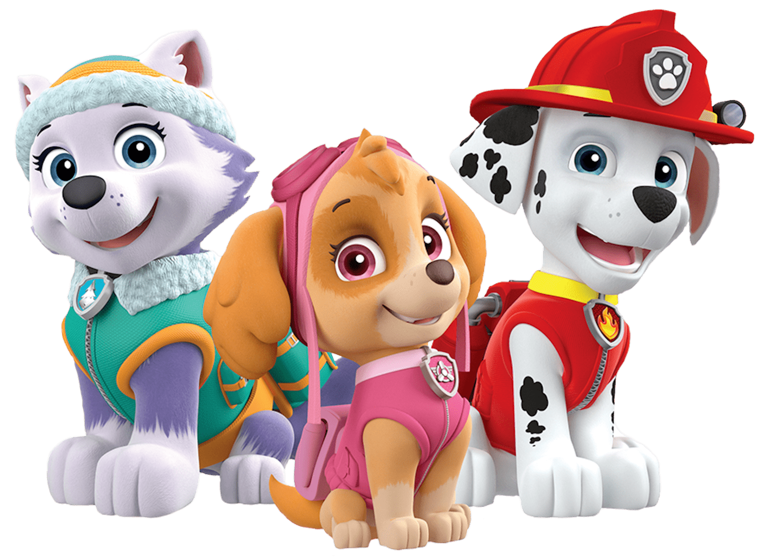 Marshall paw patrol clipart jpg black and white stock Marshall Skye Everest Paw Patrol Clipart Png jpg black and white stock