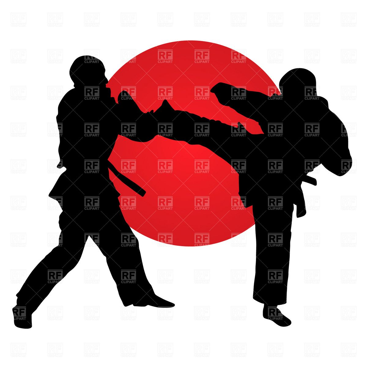 Martial arts fighter clipart free to use