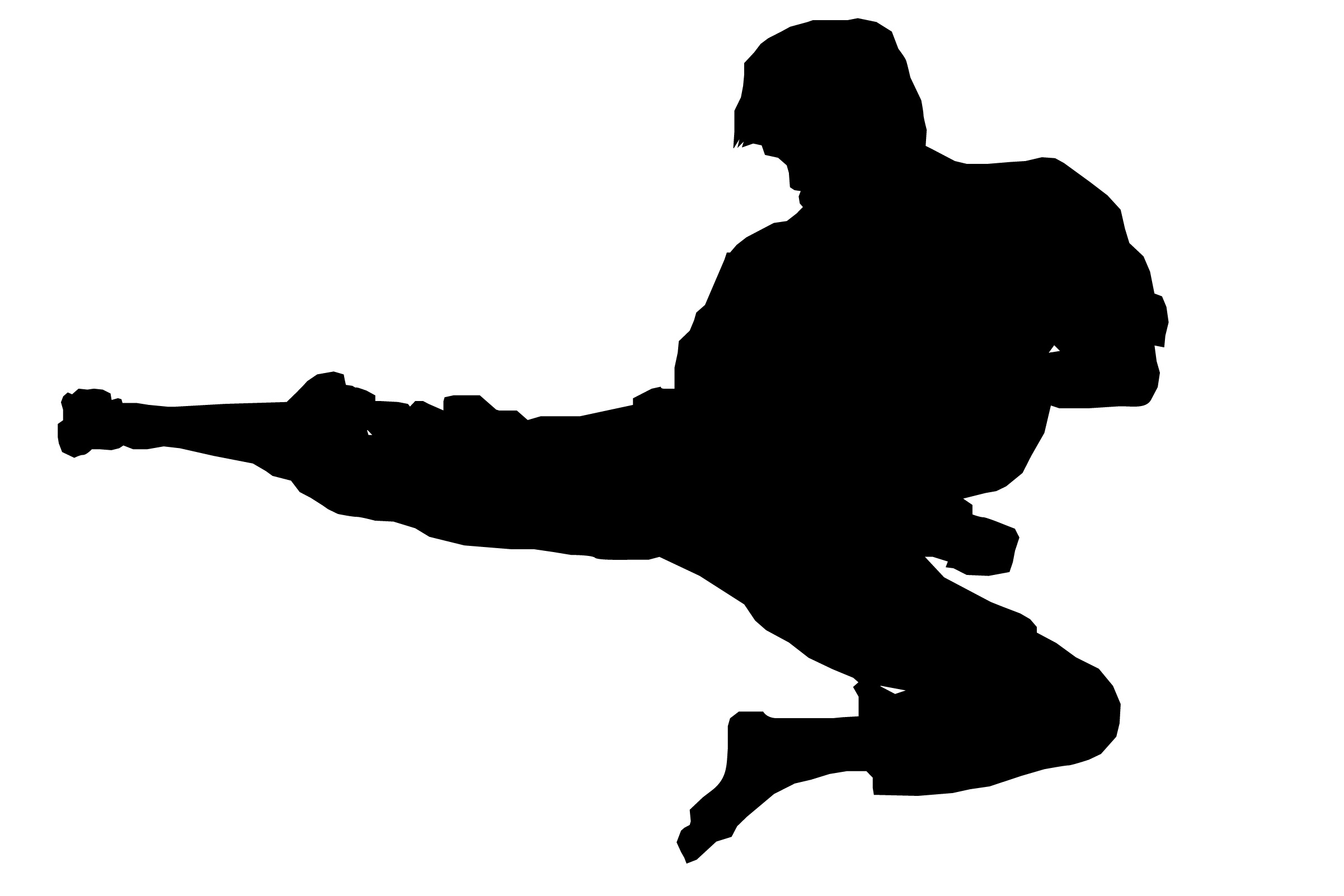 Martial arts stick silhouette clipart black and white transparent library Karate Clipart Black And White | Free download best Karate Clipart ... transparent library