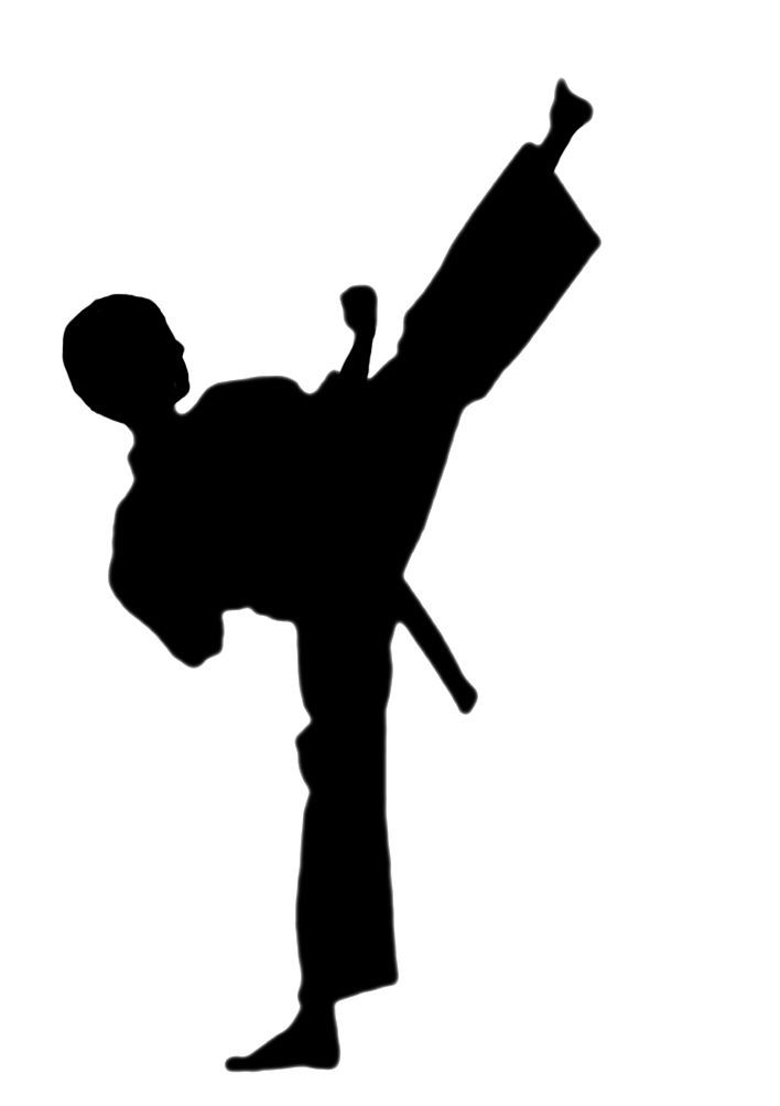 Martial arts stick silhouette clipart black and white picture karate clipart - I could possibly modify this one to be a curly ... picture