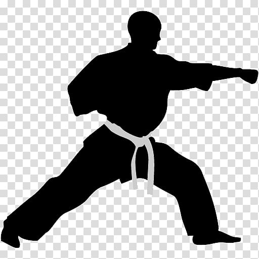Martial arts stick silhouette clipart black and white clip art royalty free library Man practicing martial arts illustration, Karate Martial arts Punch ... clip art royalty free library
