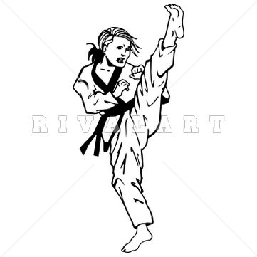 Martial arts stick silhouette clipart black and white image royalty free stock Karate Clipart Black And White | Free download best Karate Clipart ... image royalty free stock