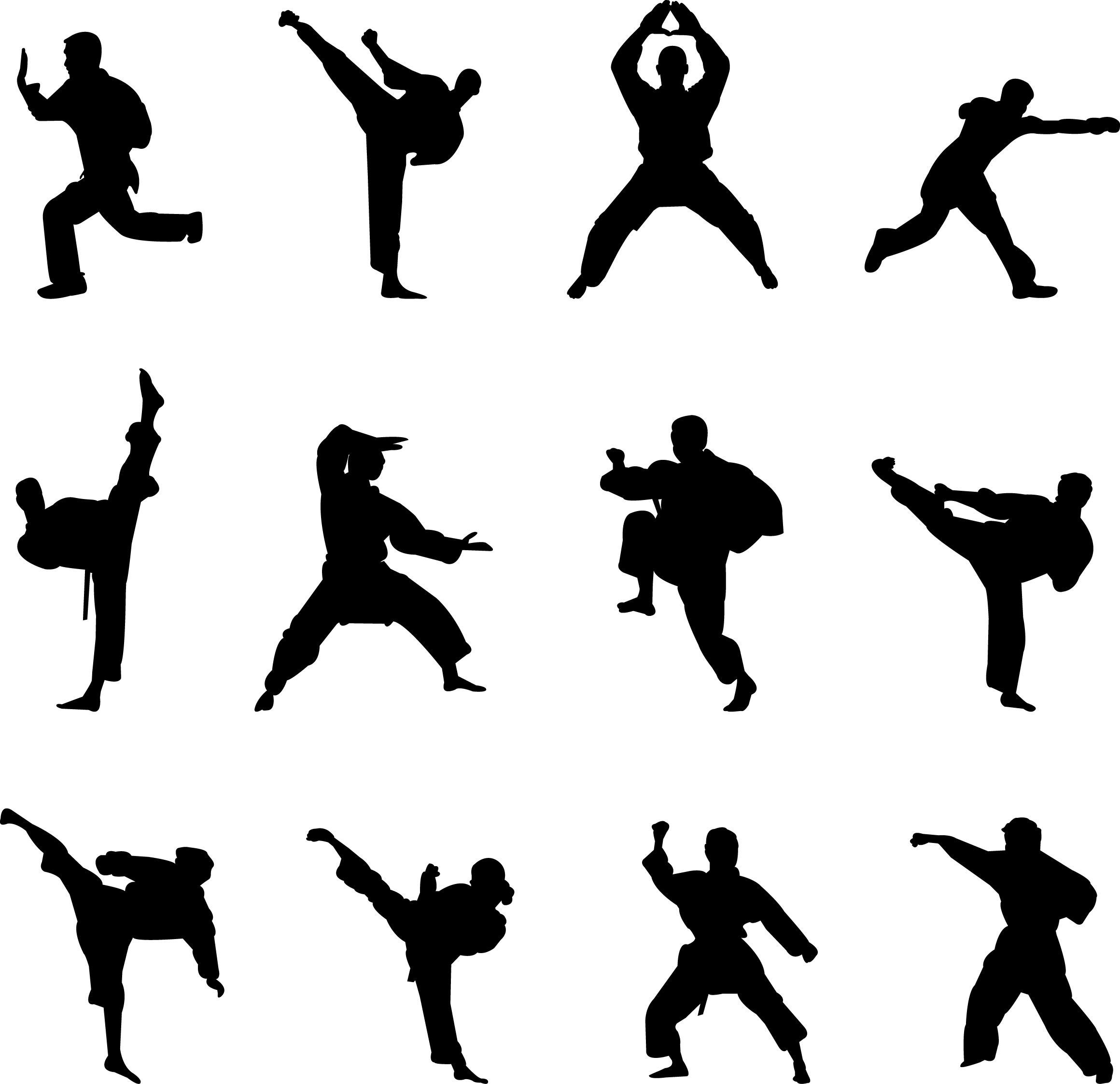 Martial arts stick silhouette clipart black and white svg freeuse download martial-arts-silhouettes | MOVEMENT STUDIO in 2019 | Chinese martial ... svg freeuse download