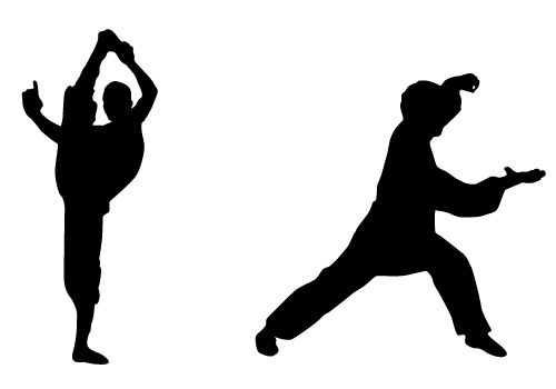 Martial arts stick silhouette clipart black and white graphic free library Stunning Karate Silhouette Vector Free Download | Silhouette Clip ... graphic free library