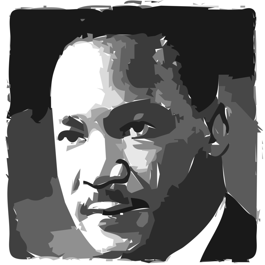 Martin luther king clipart black and white png Martin Luther King Jr Background clipart - Black, Art, Illustration ... png