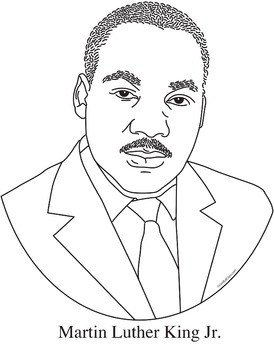 Martin luther king clipart black and white image download Martin luther king jr black and white clipart 7 » Clipart Portal image download