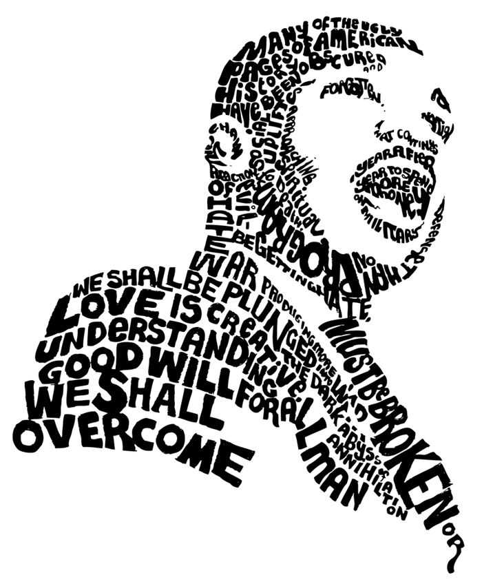 Martin luther king clipart free black and white Martin Luther King Jr Day Clipart   Clipart Panda - Free Clipart Images black and white